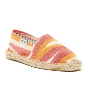 Soludos Red & Orange Ikat Espadrilles - 39